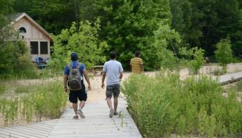 Ending the hike through Cedar Spring cabins