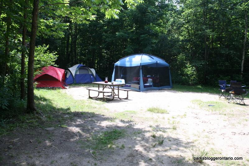 Brent campground campsite 7