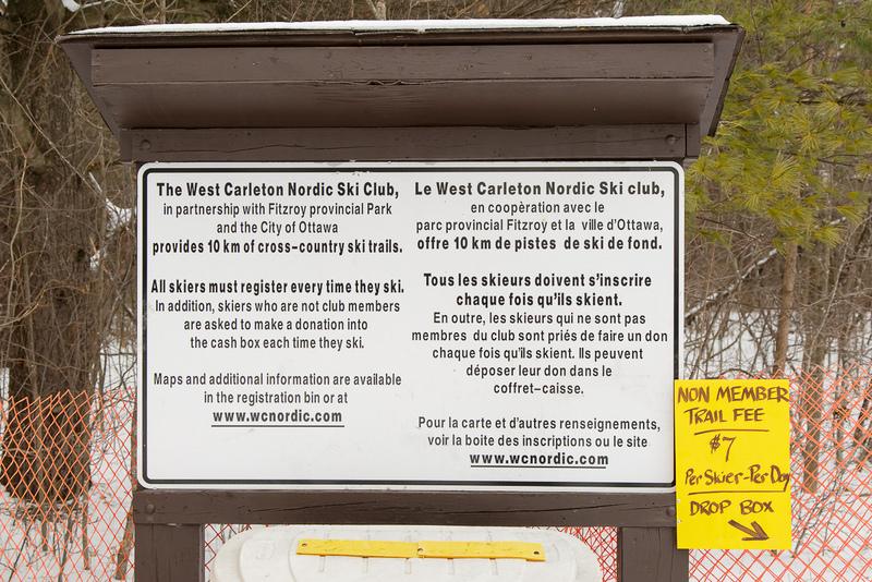 west carleton nordic ski club ski trail in fitzroy