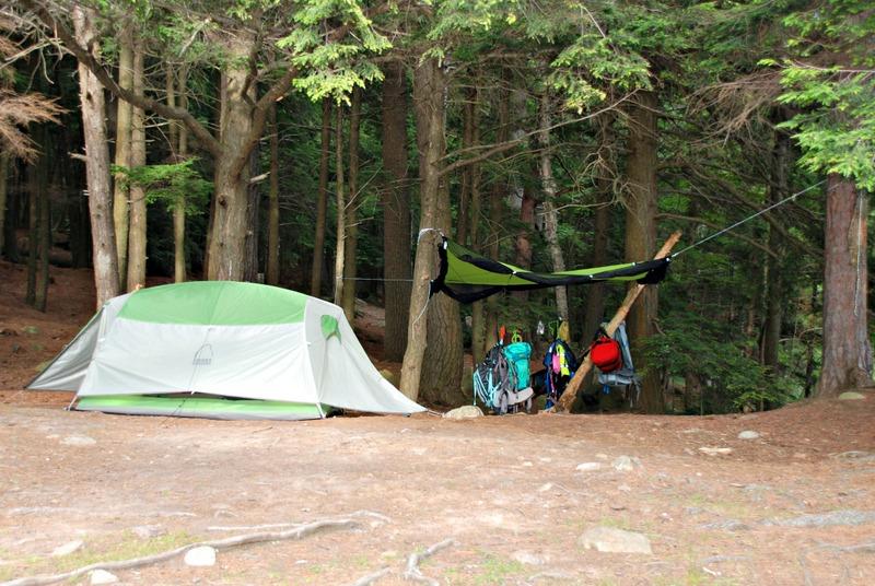 Tent camping at Bon Echo provincial park