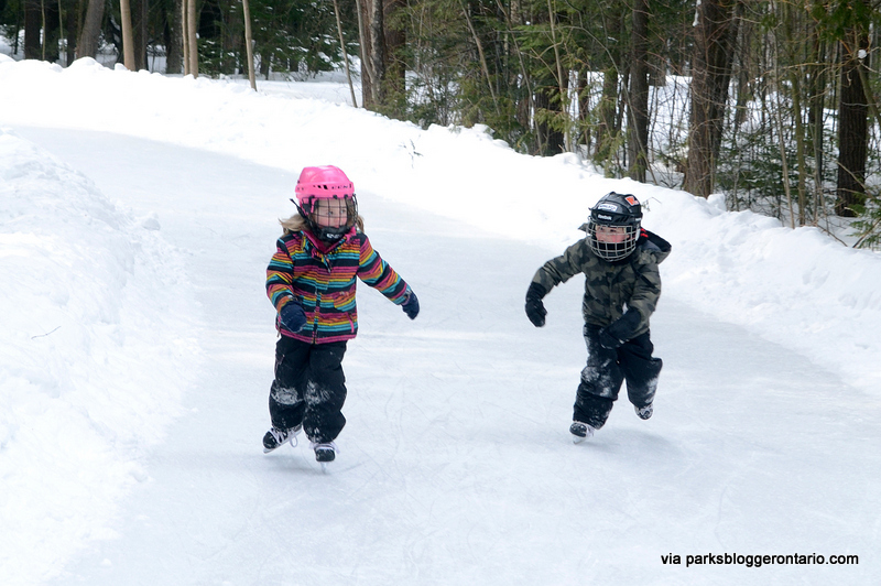 Skating rink at MacGregor Point provincial park