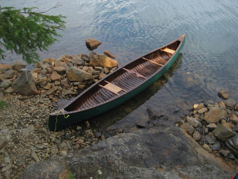 Canoe in a Ontario Lake