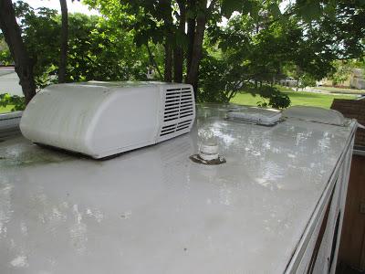 RV Maintenance - Trailer roof inspection