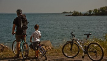 Bike ride to Silver Islet - Sleeping Giant Provincial Park