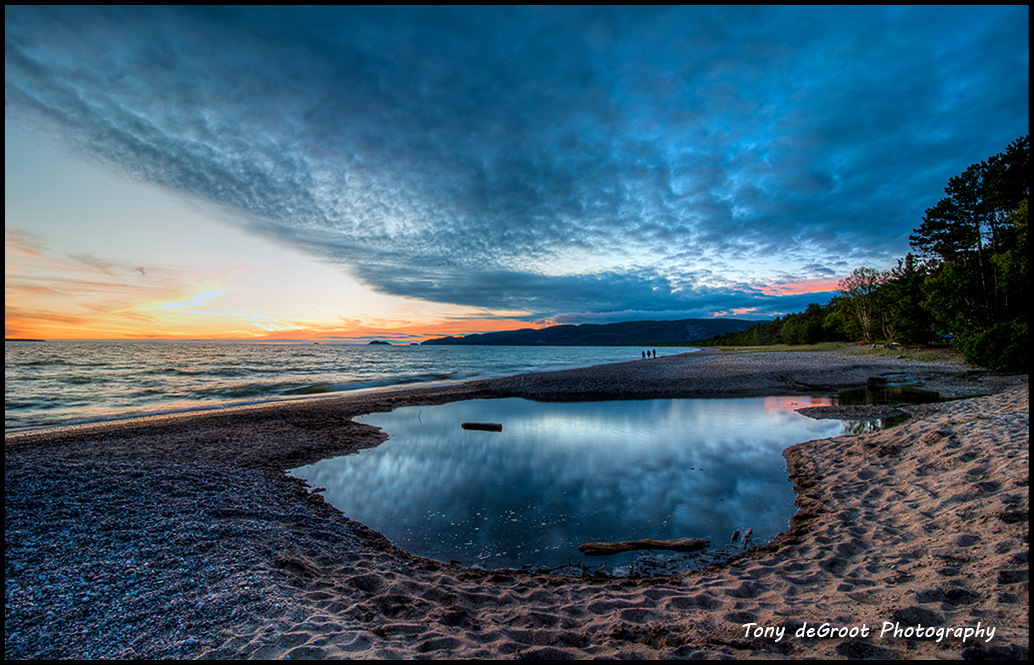 Sundown at Agawa Bay
