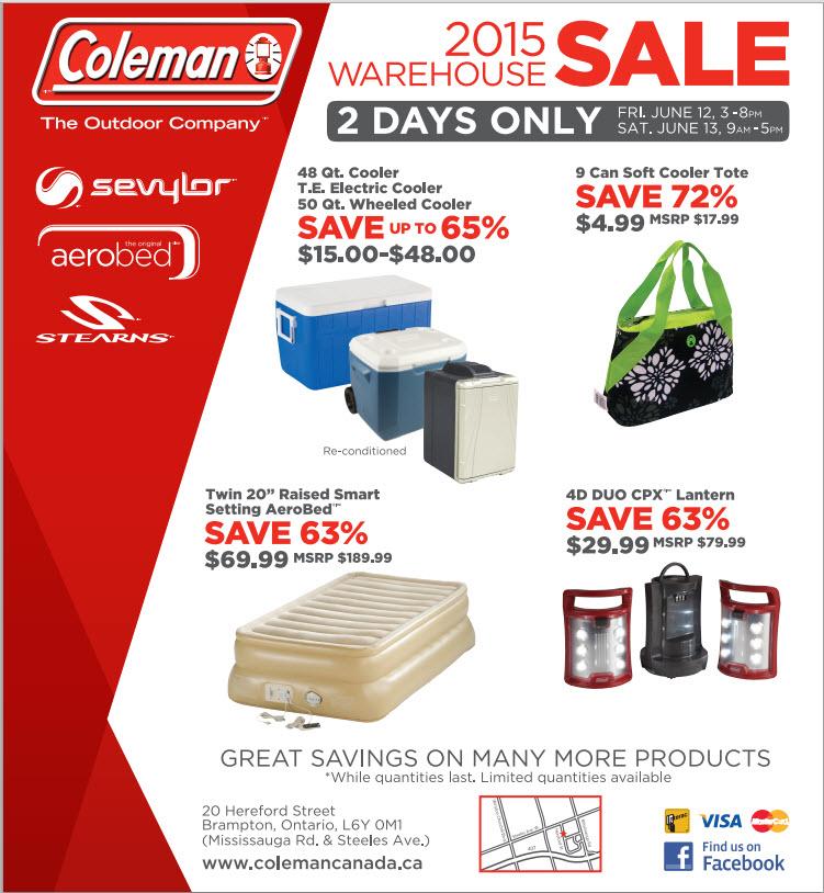 2015 Coleman Sale