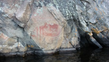 Pictographs at Bon Echo