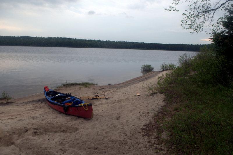 Beach site on Lake Travers, Algonquin