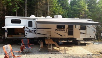 Trailer camping (35 foot trailer) at Homes Bay campground