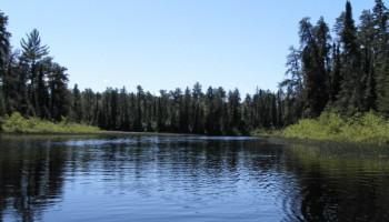 Canoeing Baptism Creek- Quetico Provincial Park