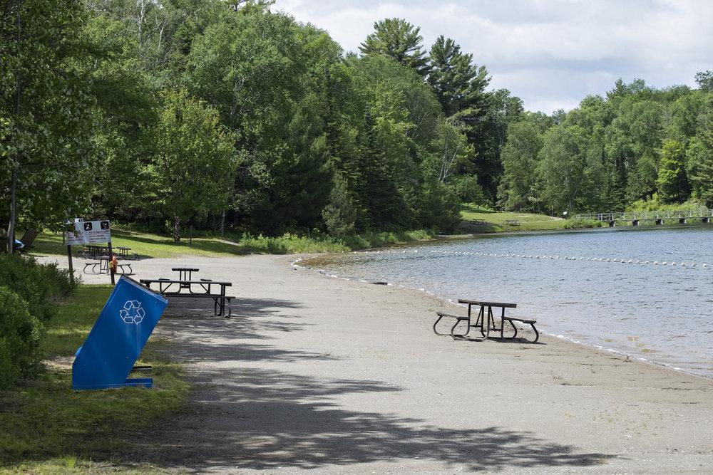 Public beach at George Lake Killarney
