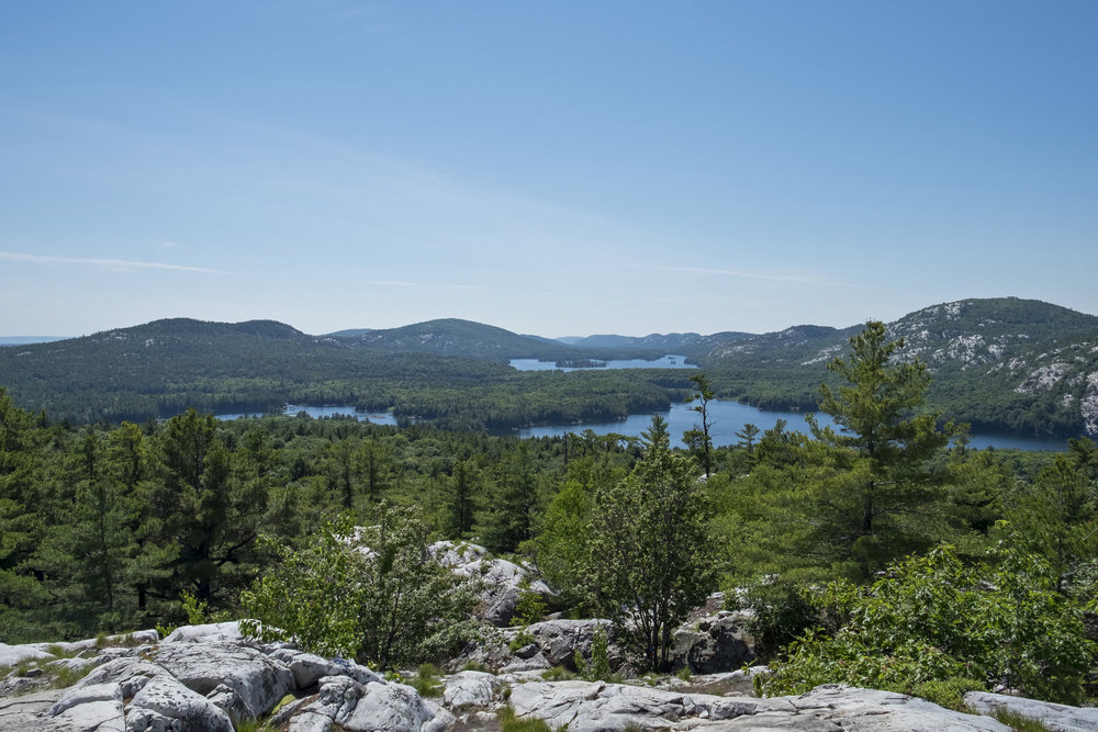 View from the top of Crack Trail, Killarney Lake