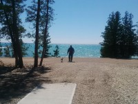 new group camping site with waterfront view, private washrooms, showers and electrical hook-ups