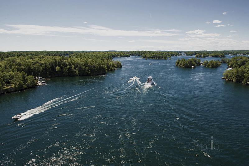 Beautiful view of Thousand Islands National Park, Ontario