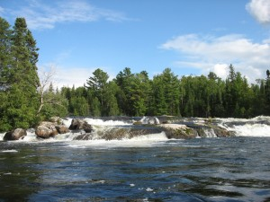 A Waterfall at Quetico Provincial Park