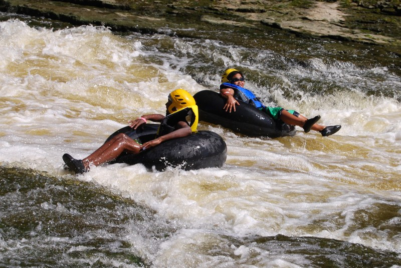 tubing ride down the Grand River at Elora Gorge Conservation Area