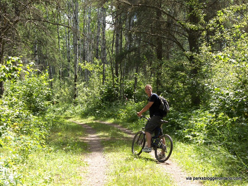 The hiking and cycling trails at Kakabeka lead through verdant forests and into the river valley