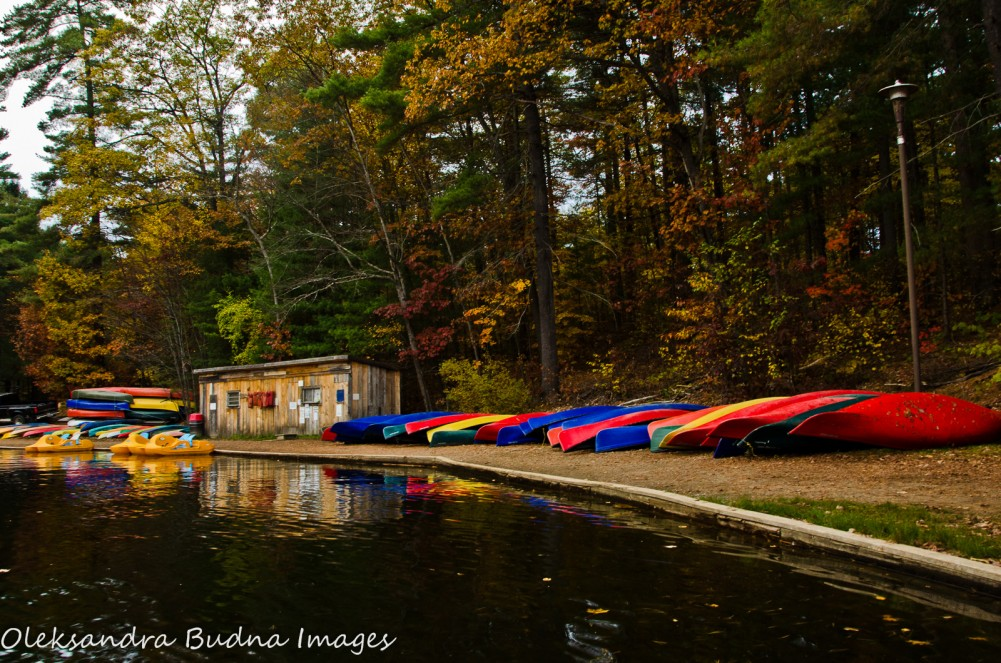 canoe station in Bon Echo during Fall