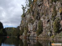 The cliff faces are even more impressive when viewed from river level