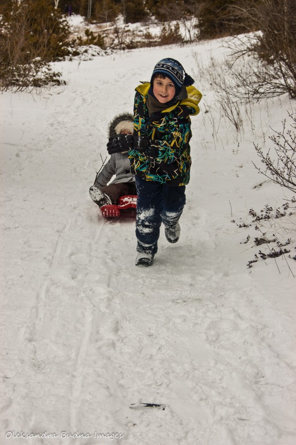 Having fun in MacGregor Point Provincial Park in the Winter