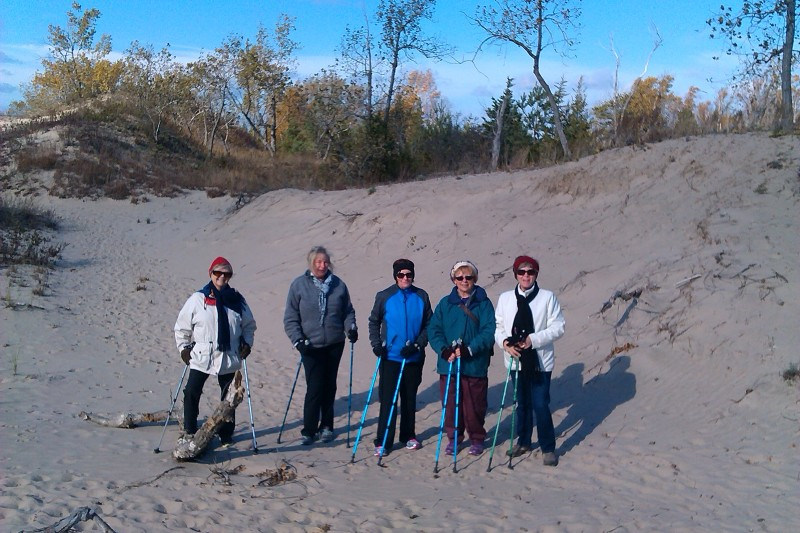 Nordic Walking at Sandbanks Dunes Trail - Sandbanks Provincial Park