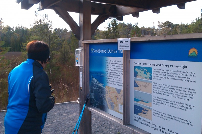 Sandbanks Dunes Trail Information Board