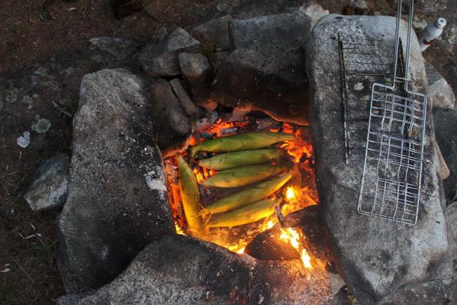 Corn in the coles - backcountry camping recipies