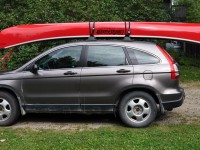Our canoe travels well on our vehicle