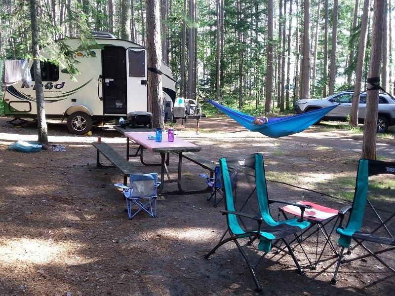 Campsite at Agawa Bay Campround_LakeSuperior PP