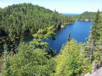 Orphan Lake as seen from trail lookout