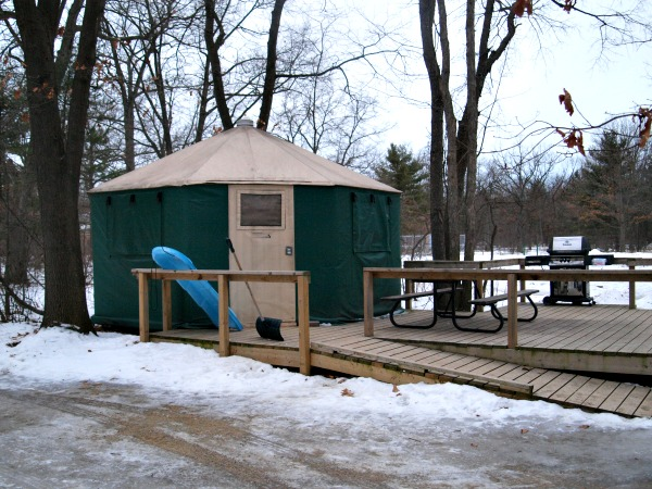 Winter yurt at pinery provincial park