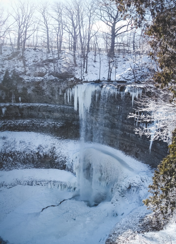 Tews Falls, Spencer Gorge Conservation Area - Winter hiking