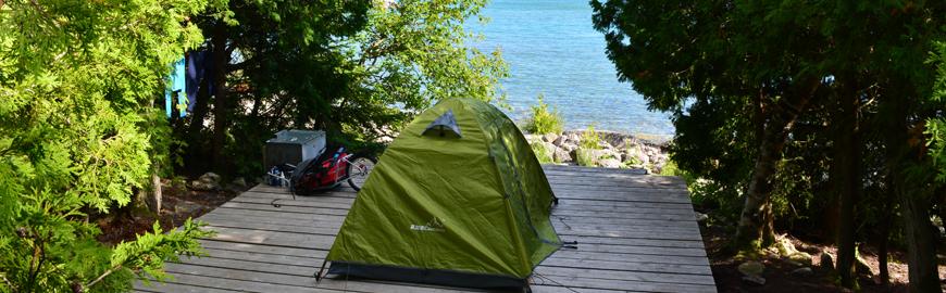 Fathom Five Flowerpot Island Tenting Site