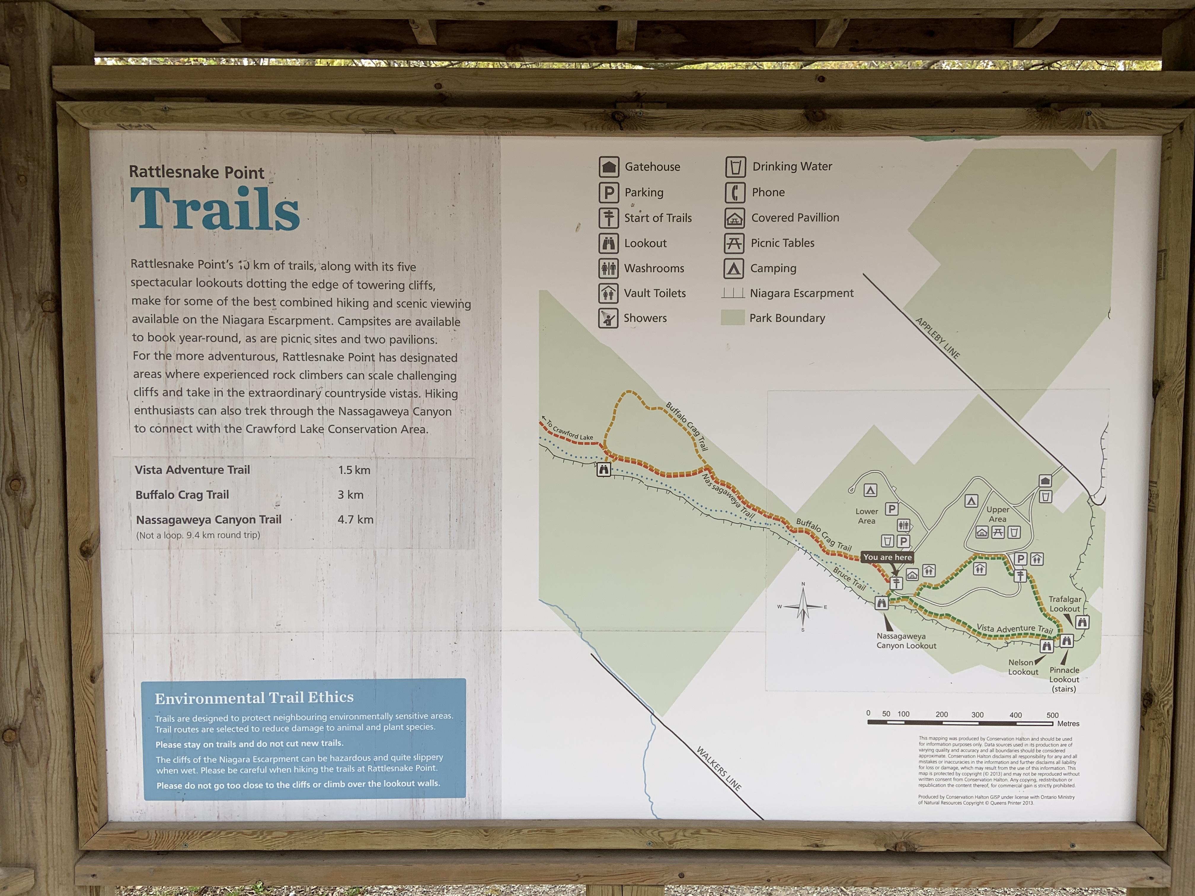 Rattlesnake Point Trail Map