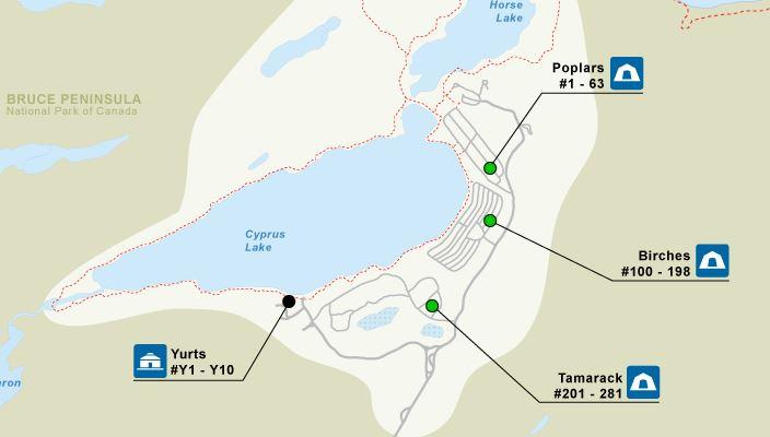 Bruce Peninsula National Park Campgrounds