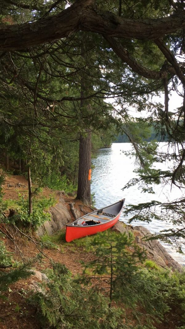 Backcountry camping at Tom Thomson Lake, Algonquin
