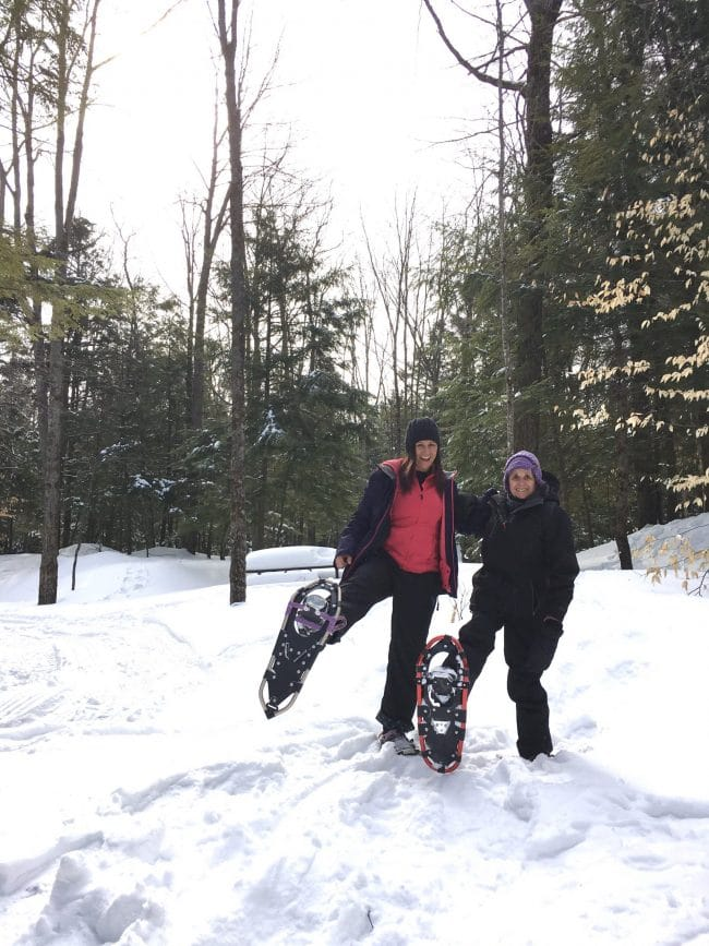 Snowshoeing at Silent Lake PP